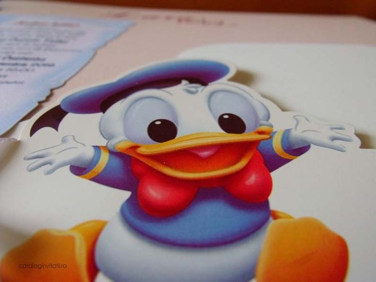 Invitatie botez cufar Donald Duck 105