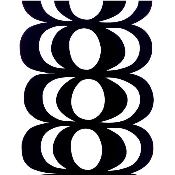 Kaivo fabric, white-black, by Marimekko.
