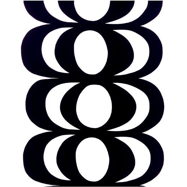 Kaivo fabric, white-black, by Marimekko.