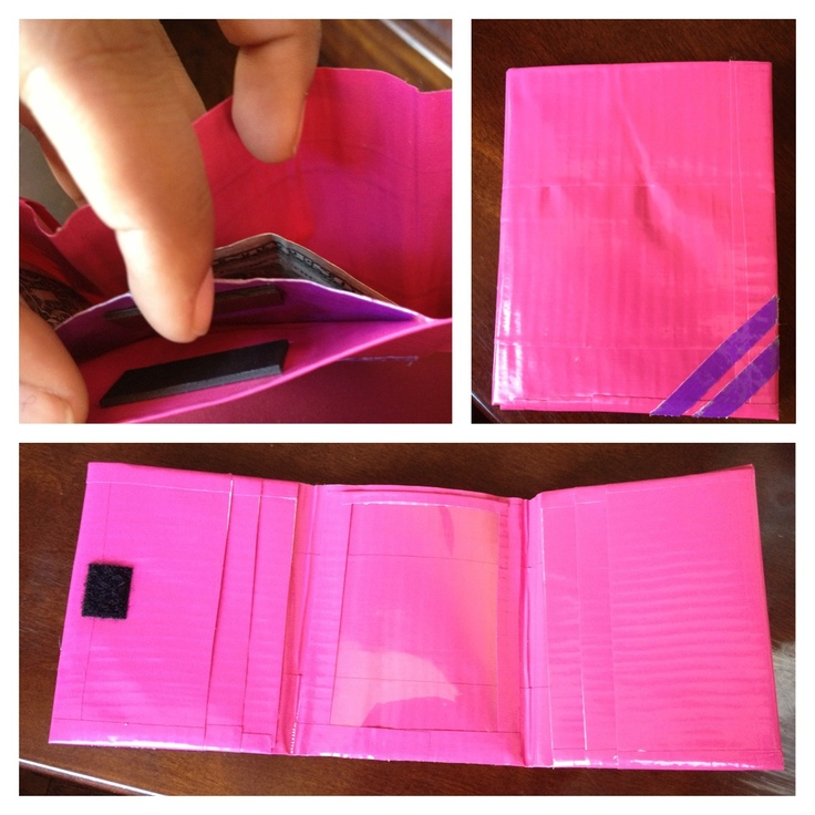 how to make a duct tape wallet with card slots