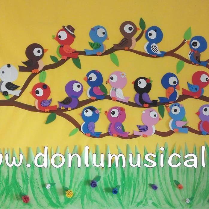 17 mejores ideas sobre decoraciones de aves en pinterest for Como pintar un mural infantil