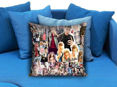 5SOS 5 Seconds of Summer Collage Pillow case #pillow #case #pillowcase #custompillow #custom