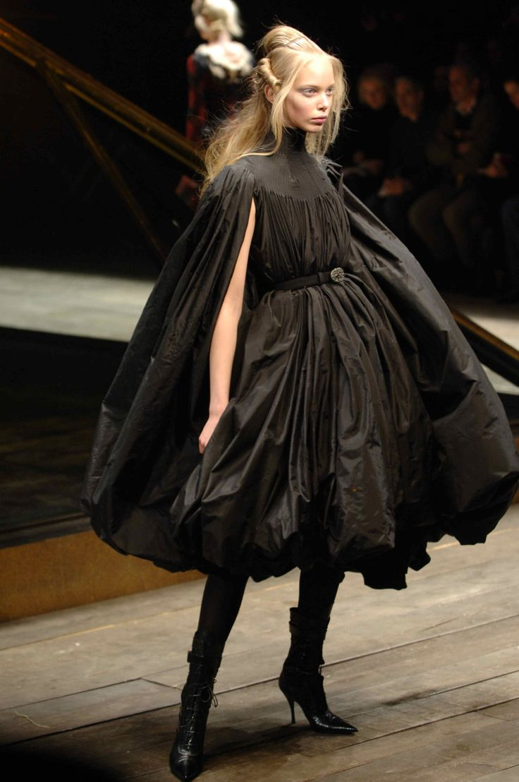 Alexander McQueen Fall/Winter 2006 - 'The Widows of Culloden' Collection. Model: Tanya Dziahileva.