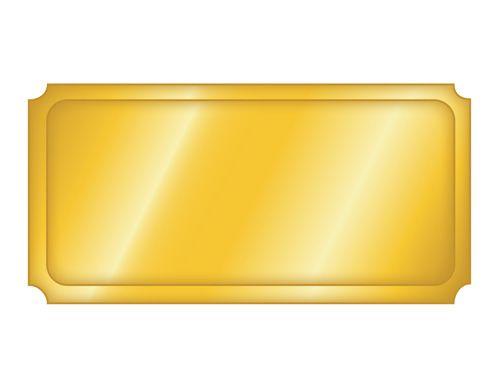 Blank Golden Ticket Template