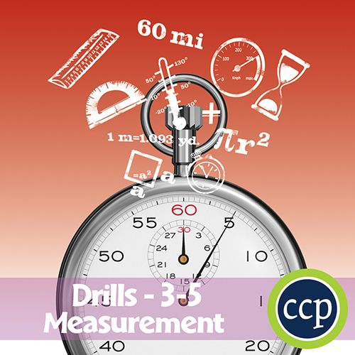 For grades 3-5, our resource meets the measurement concepts addressed by the NCTM standards and encourages the students to review the concepts in unique ways. Each drill sheet contains warm-up and timed drill activities for the student to practice measurement concepts. Students will reinforce and develop their knowledge of measurement tools including: length, volume, time, money, weight and area.