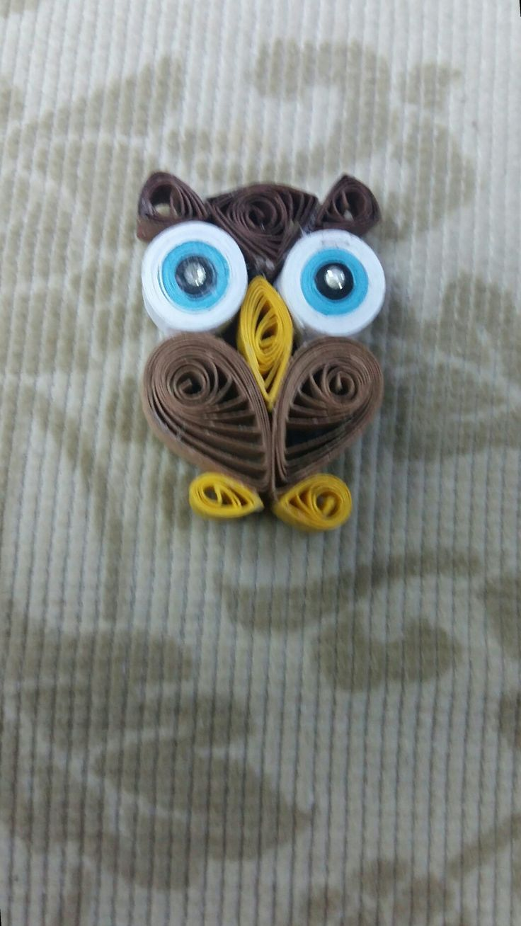 Ouilling owl magnet