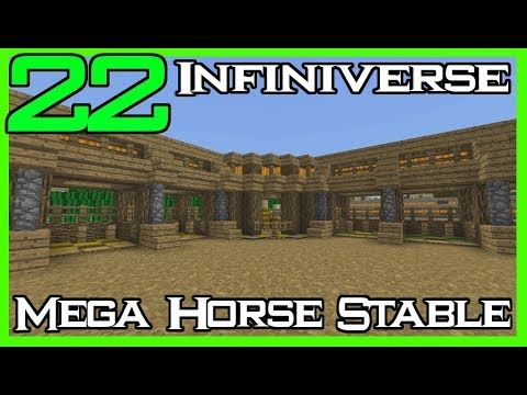 Fingers Crossed But I M Hoping You Ll Love This Minecraft Infiniverse 22 Mega Horse Stables Https Youtube Com Watch V Elosvjebgvc Avec Images