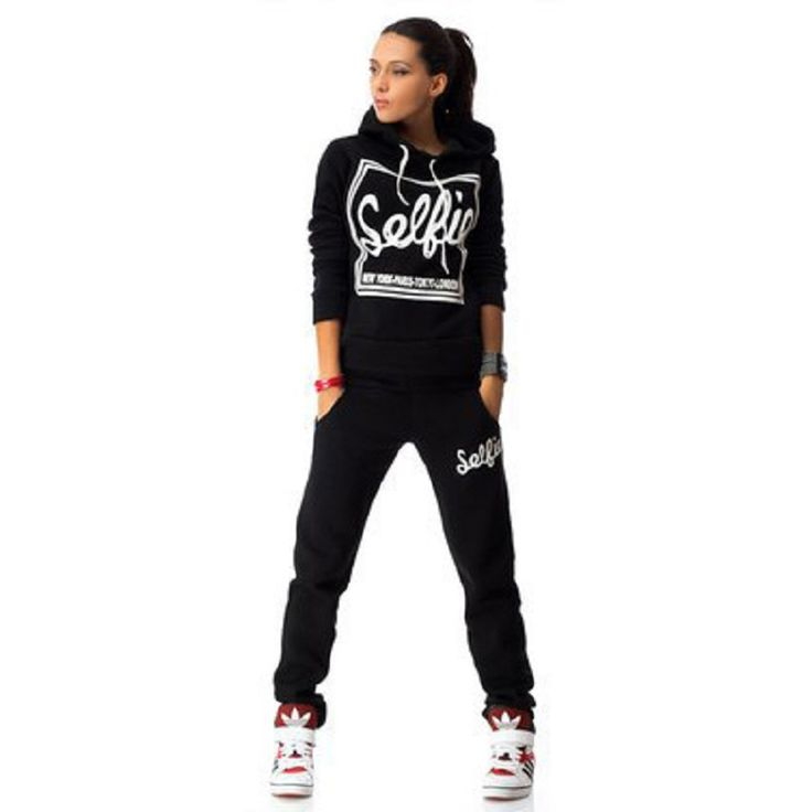 Faishion Woman Tracksuit Long Sleeve Hoodies Sweatshirts Winter Sporting Suits Women Letter Print Pants