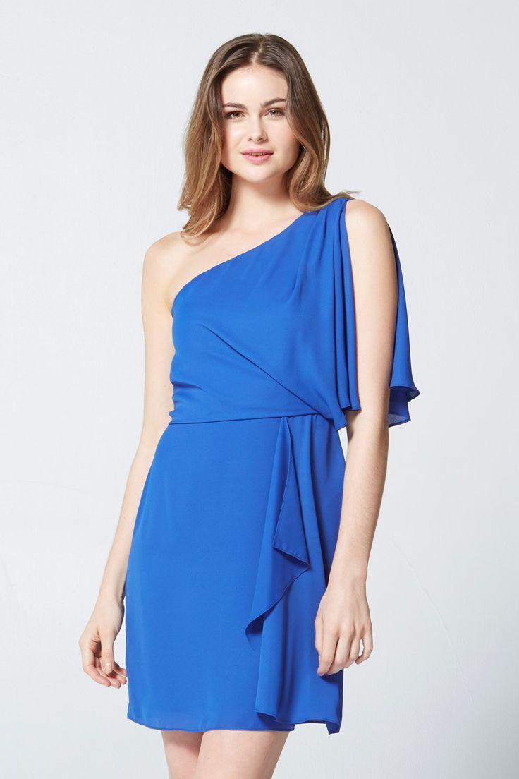 Max - One shoulder ruffle dress