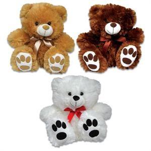 "317 - Wholesale Teddy Bears - 9"" Big Foot Bear Asst."