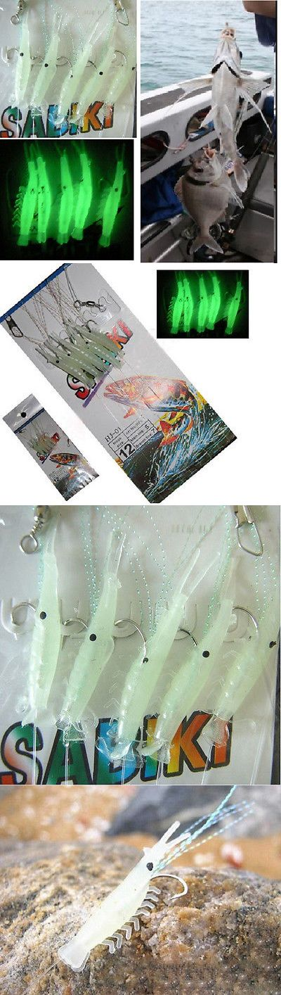 Saltwater Lures 36153: Sabiki 5 Shrimp Rigs Glow In The Dark Baits Fishing Lures Catch Hooks Sea Bass BUY IT NOW ONLY: $38.88