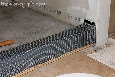 Master Bathroom Days 11-13: Shower Curb, Waterproofing and Floor Repair - The Kim Six Fix