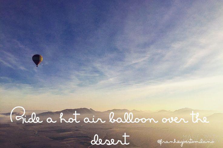 Hot air balloon ride over the Atlas Mountains in #marrakech #morocco