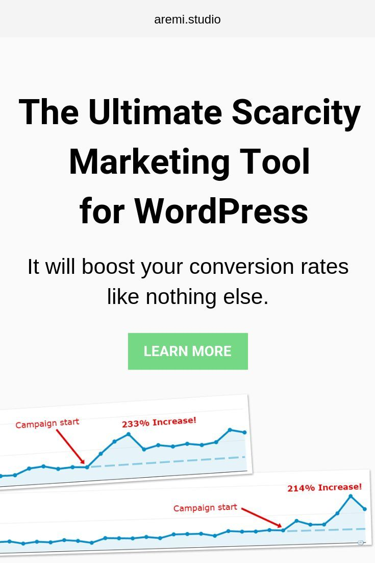 The Ultimate Scarcity Marketing Tool for WordPress: - Easy