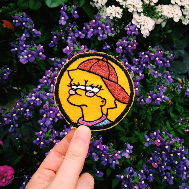 Lisa Simpson iron on patch.