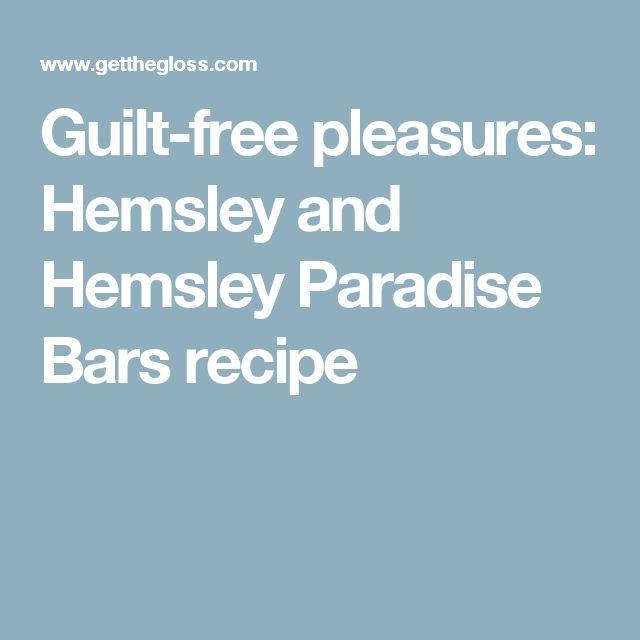 Guilt-free pleasures: Hemsley and Hemsley Paradise Bars recipe