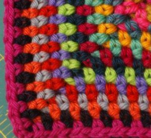 Tweed stitch, crochet
