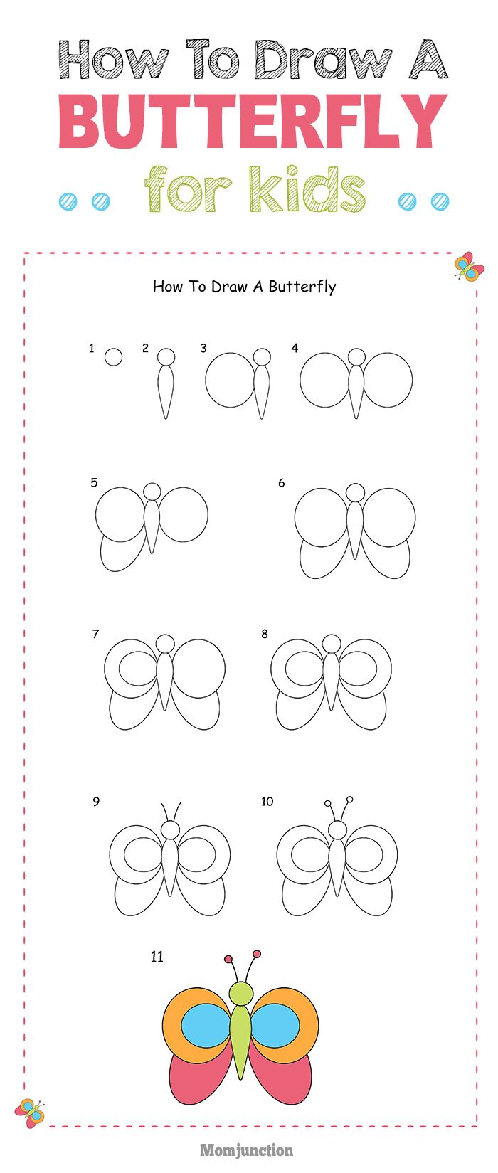 Want to teach a butterfly drawing lesson for your kid, then here is how to draw a butterfly for kids. It will not only teach your kid butterfly drawing, but much more.