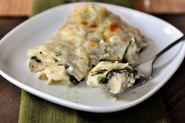 White Chicken and Spinach Lasagna.