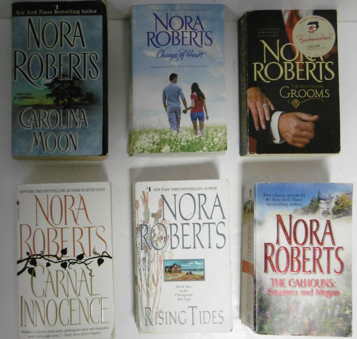 Nora roberts six 6 books paperback excellent condition