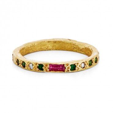 Esther Assoulin 'Gan Eden' Diamond & Ruby Ring