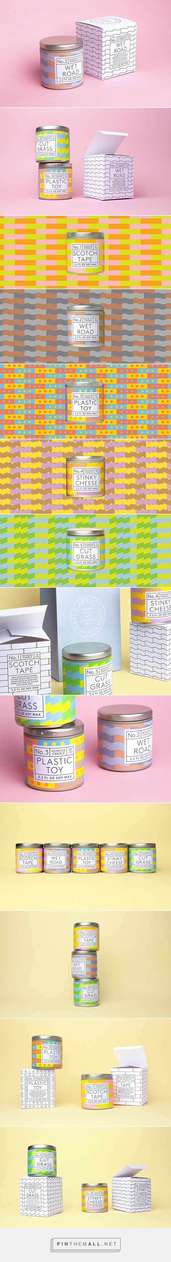Daily Affections candles by Albert J. Son. Pin curated by SFields99. #packaging
