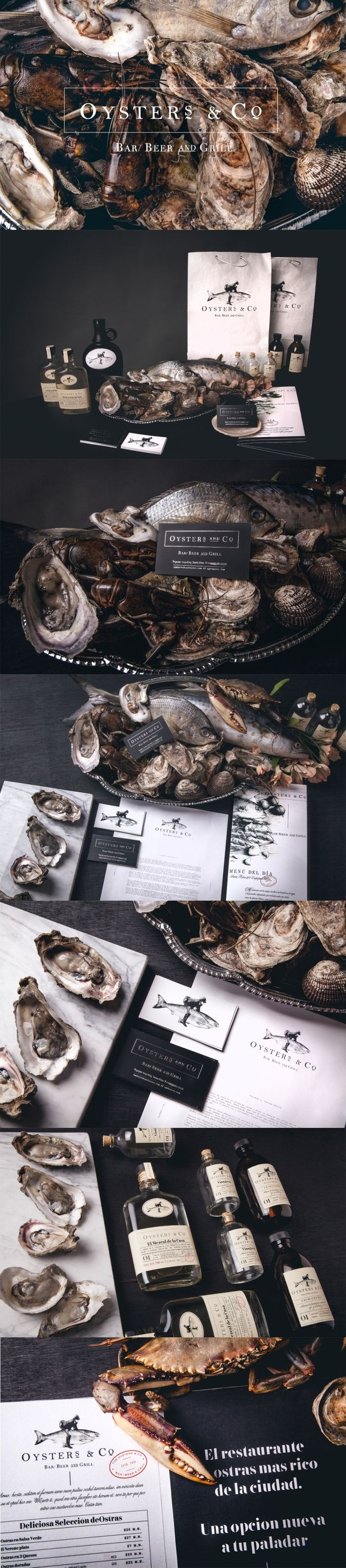 Oysters and Co. Freshness overload. (More design inspiration at www.aldenchong.com)