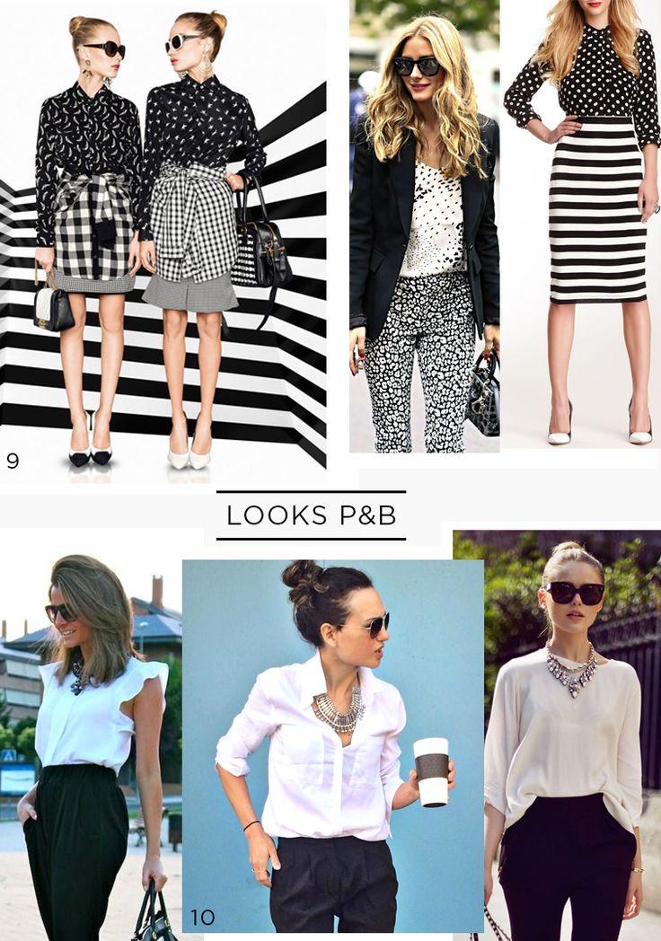 O famoso e tradicional preto e branco. Antigamente era tendência, hoje em dia já virou um básico de guarda-roupa. Como sair da mesmice? Aqui!