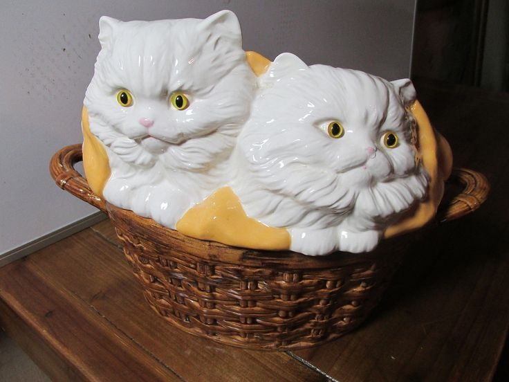 432 Best Kitty Cat Cookie Jars Images On Pinterest Cats