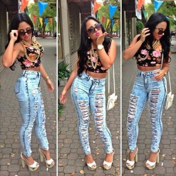 1000  images about Ripped Jeans on Pinterest | Sexy outfits ...
