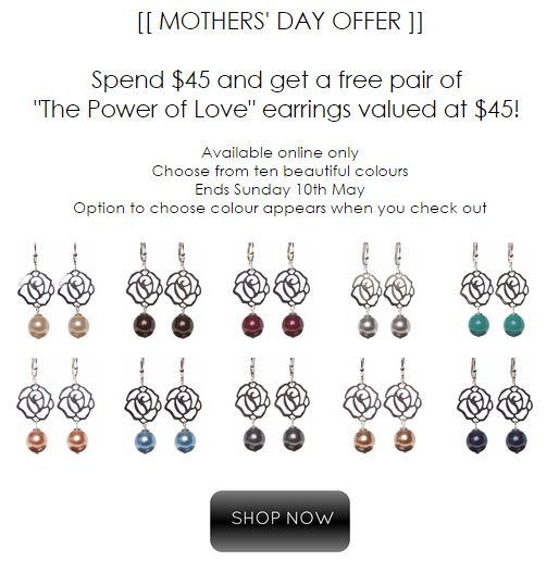 Free gift with purchase! Ends Sunday May 10th 2015. Shop here: www.jetempire.com.au