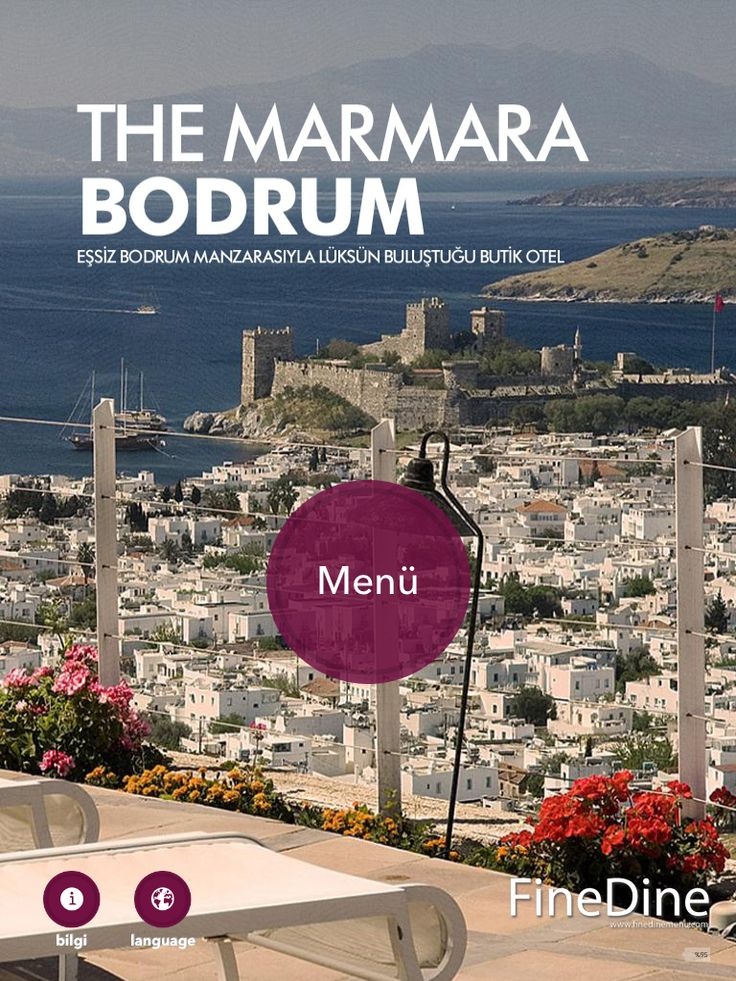 iPad Restauant Menus in multiple languages available in The Marmara Bodrum Restaurants.
