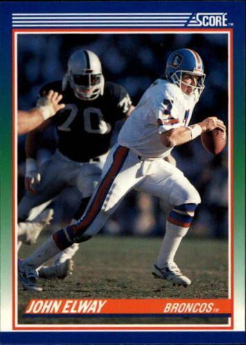 1990 Score #25 John Elway Denver Broncos NFL Football Card #Score #DenverBroncos