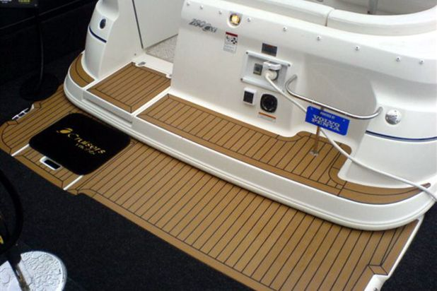 Inexpensive yacht synthetic teak deck anti slip teak yacht decking for boats price pvc for Replacing interior boat carpet
