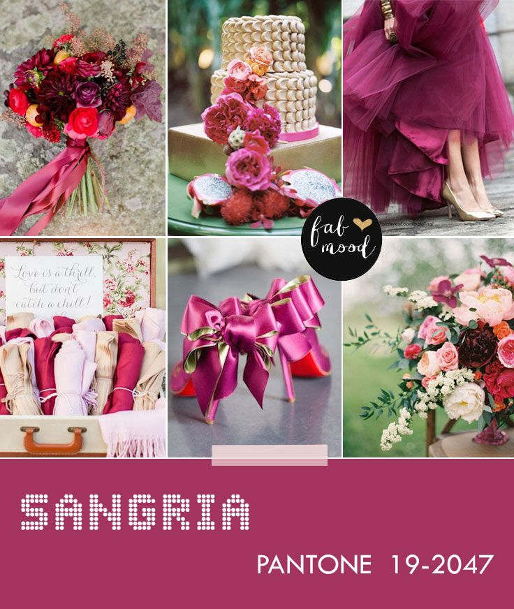 Sangria wedding -- pantone fall 2014 wedding color This and Aurora Red are my Favs this season <3 <3