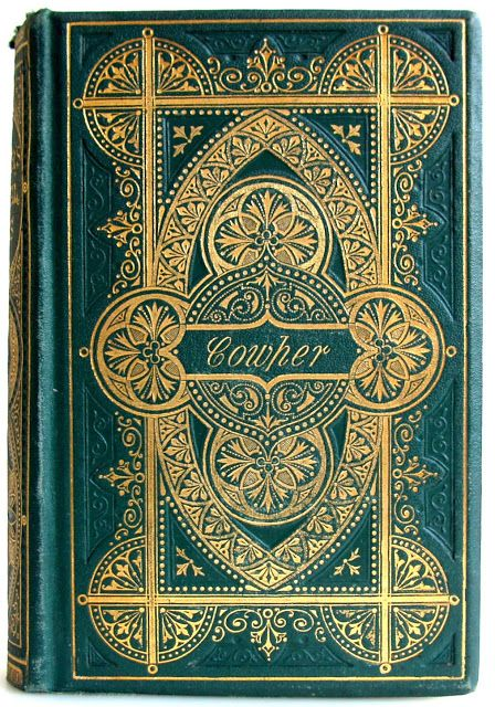 The Poetical Works of William Cowper with illustrations by Hugh Cameron, Edinburgh: William P. Nimmo, [1869] - Beautiful Antique Books