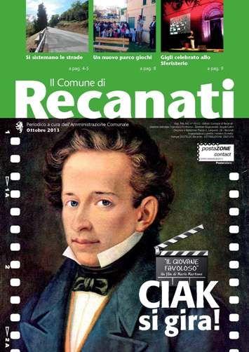 """Recanati si trasforma in set cinematografico per il film """"Il giovane favoloso"""" del regista Mario Martone."""