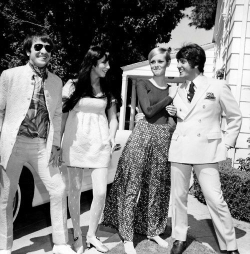 Sonny & Cher with   Twiggy & Roger Daltrey (the Who)