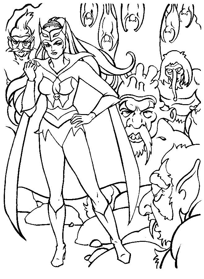 77 best Crafty (80's She-Ra) Coloring images on Pinterest