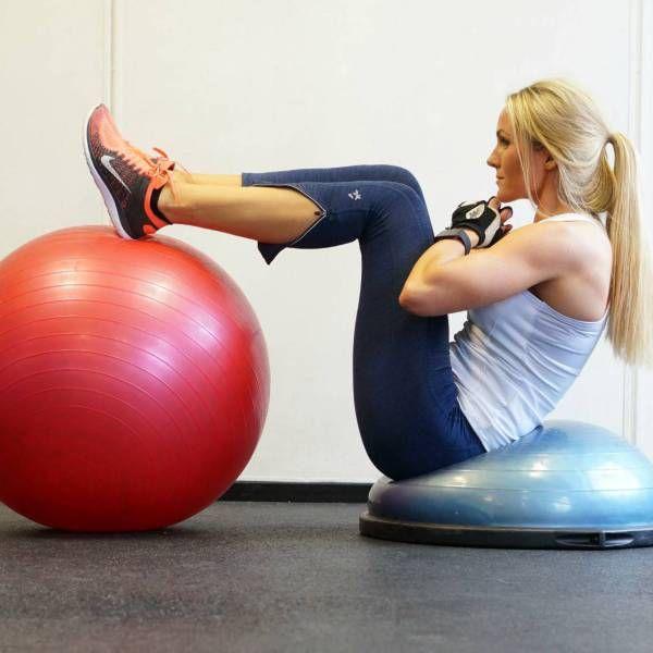 Hjemmetrening og svidde magemuskler
