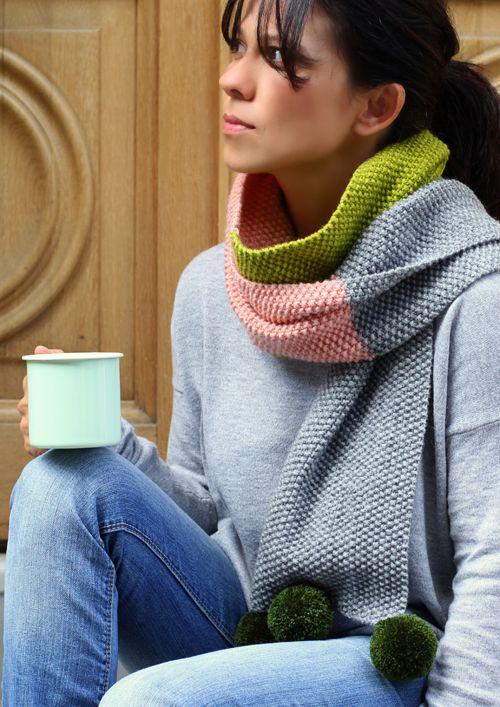 Love knitting scarf, Mollie Makes 47 http://bit.ly/1C4l6Tk