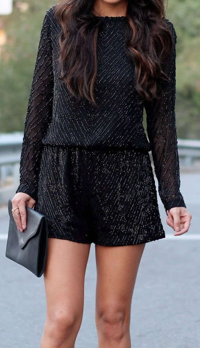 sequined romper = perfect NYE outfit