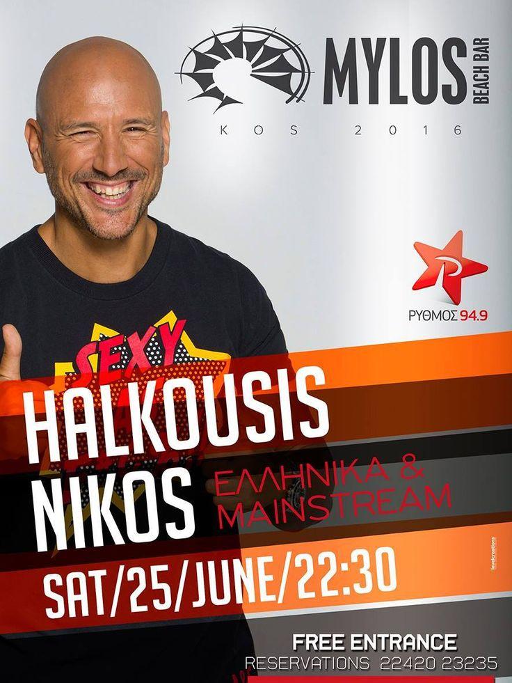 Ελληνικά και Mainstream by #NikosHalkousis @MylosBeachBar 25/06