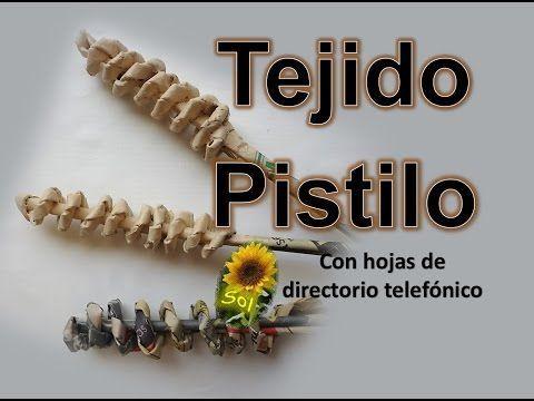 Tejido pistilo cestería con papel periódico - Pistil woven baskets with newspaper - YouTube