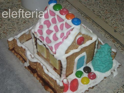 Γεύση Ελευθερίας: Χριστουγεννιάτικα σπιτάκια με 11 μπισκοτάκια πτι μπερ