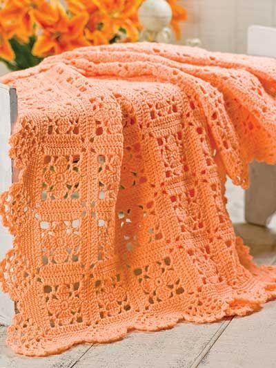 Bonita colcha de crochê