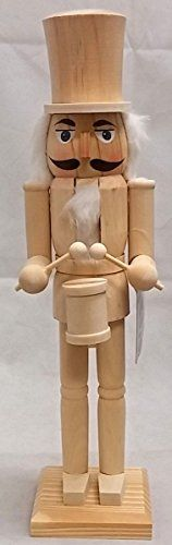 Unfinished Drummer DIY Unpainted Natural Wood Christmas Nutcracker 15 Inch >>> This is an Amazon Affiliate link. Read more at the image link.