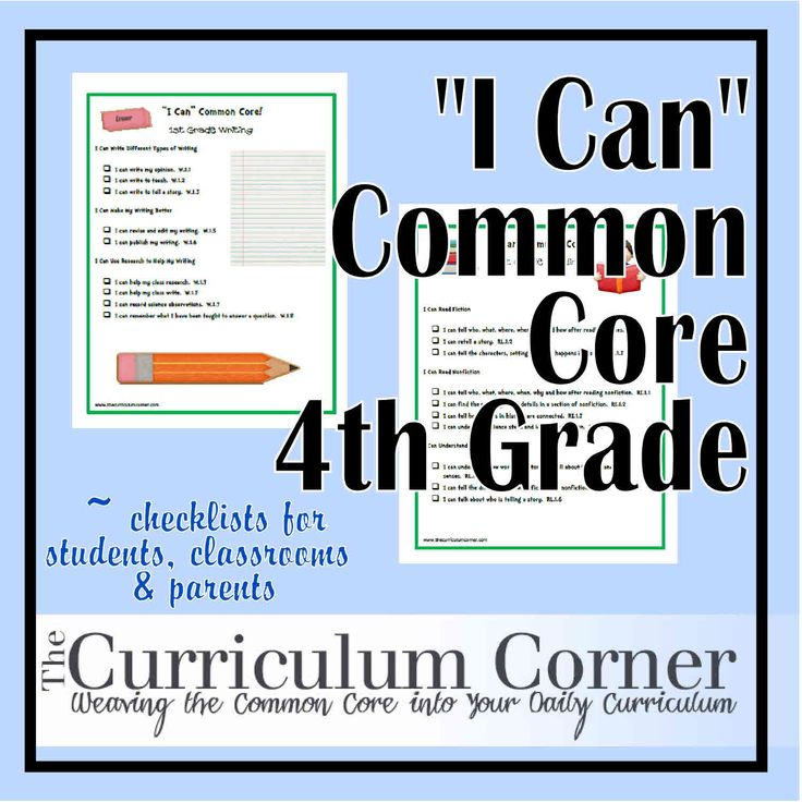 "Weaving the Common Core into the Daily Curriculum - 4th Grade ""I Can"" Common Core Fourth Grade Statements"
