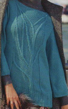 Leaf Motif Pullover - Vogue 2010-11 - Winter