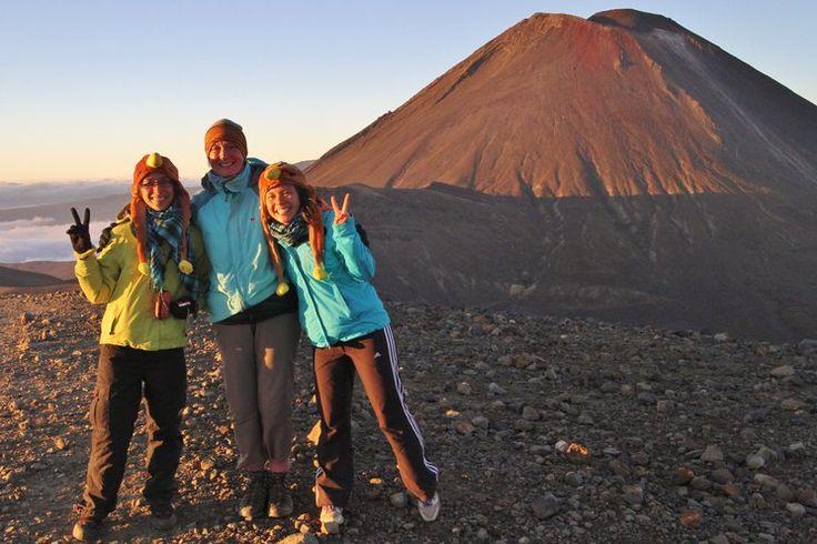 Tongariro Crossing at sunrise